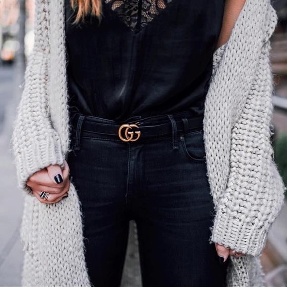 360ffa2b6 Gucci Accessories | Double G Black Leather Belt 7530 | Poshmark